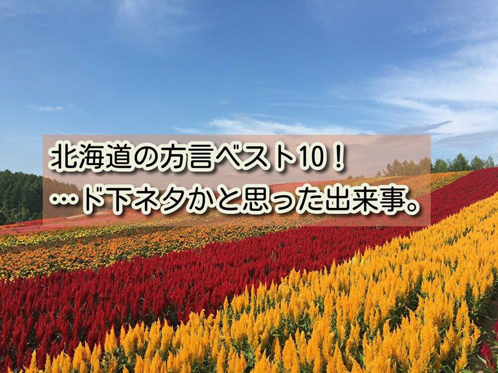 北海道の方言ベスト10!…ド下ネタかと思った出来事。