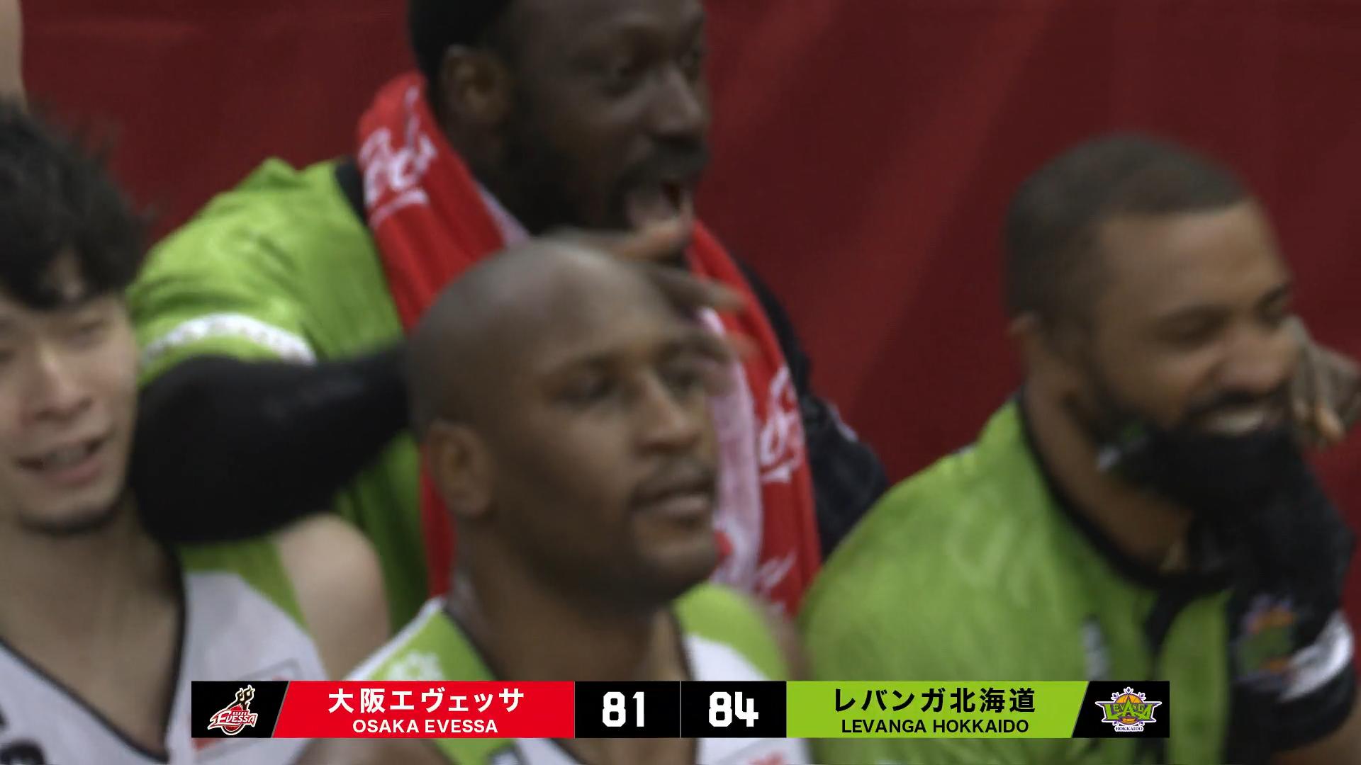 【残り6分、22点差からの大逆転!】 大阪エヴェッサ VS レバンガ北海道 ※動画あり
